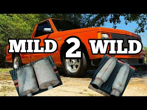 V8 S10 Stock Muffler Swap To Dynomax Race Bullets HUGE DIFFERENCE!!