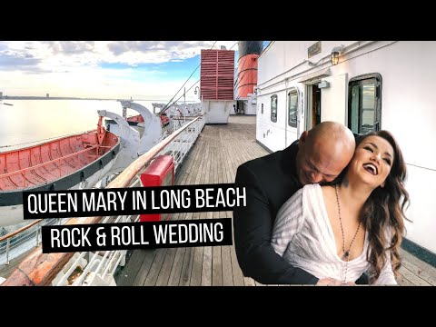 Gorgeous Wedding at the Queen Mary in Long Beach, CA (Couple with tattoos)