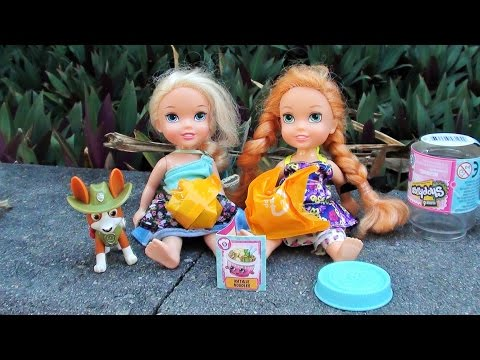 Anna and Elsa Toddlers Toy Hunt Shopkins Treasure 1 Haunted House Paw Patrol  Toys