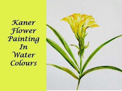 How To Paint Simple Yellow Flower in Watercolors-Beginners Step-By-Step Tutorial
