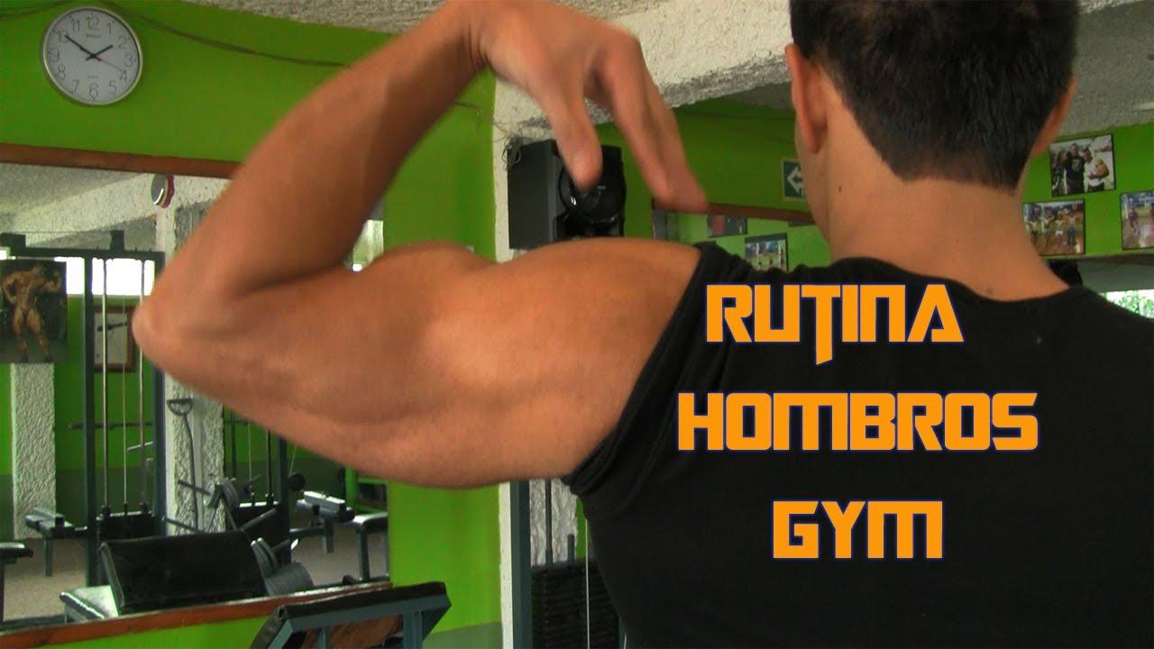 ejercicios de hombro para gym