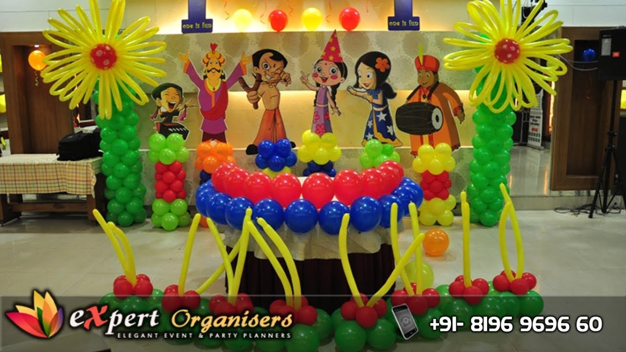 Expert Birthday Planners Chhota Bheem Theme Decoration At Hotel