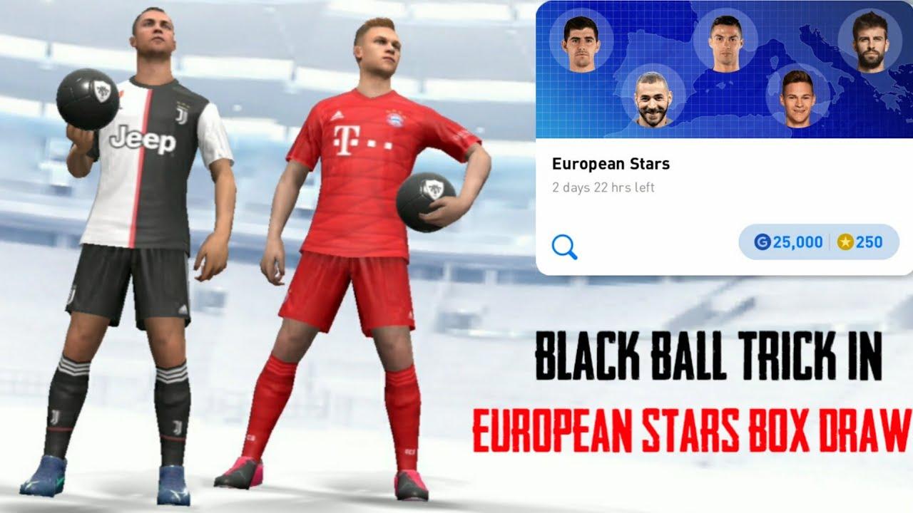 Black Ball Trick in European Stars Box Draw || Pes 2020 Mobile