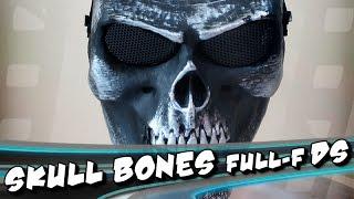 Skull Bones full face Dark Silver - Máscara de qualidade (art / airsoft / paintball)