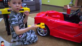 Artem rides on supercar Ferrari and Play with Magic wand