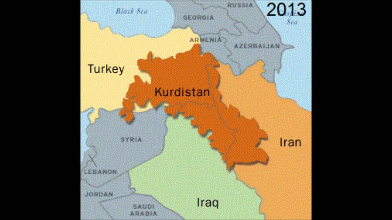 Kurdistan Weltkarte