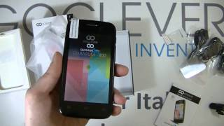"GOCLEVER QUANTUM 2 400 4"" IPS QUAD CORE  ANDROID 4.4 8 GB GPS 8 MPIX UNBOXING"