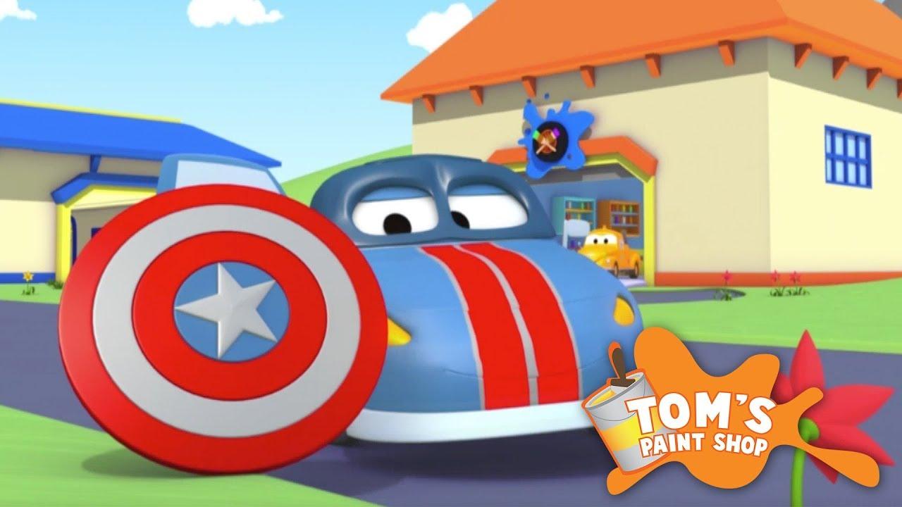 Tom'un Boyacı Dükkanı | Polis Matt Kaptan Amerika'ya Dönüşüyor - Çizgi Film