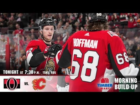 NHL 18 PS4. REGULAR SEASON 2017-2018: Calgary FLAMES VS Ottawa SENATORS. 03.09.2018. (NBCSN) !