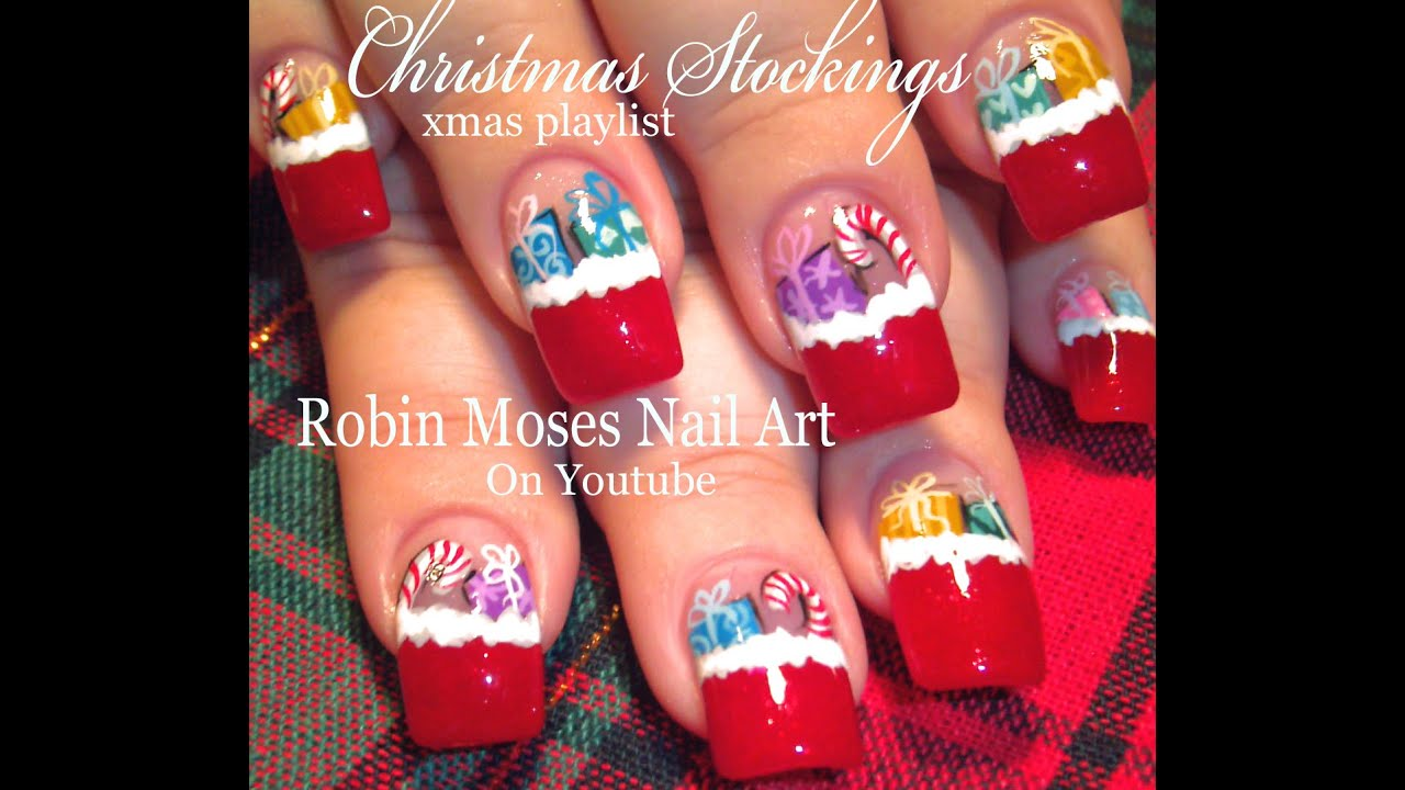 Christmas stocking nail art filled with gifts xmas nail art christmas stocking nail art filled with gifts xmas nail art design youtube prinsesfo Choice Image