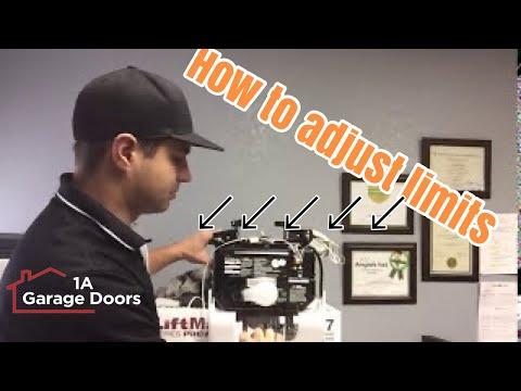 Adjusting Limits And Setting Force   1A Garage Doors Sacramento   YouTube
