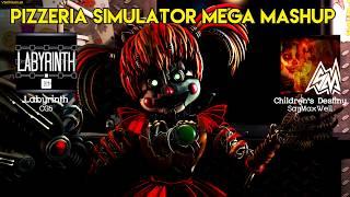 [FNAF 6] Freddy Fazbear's Pizzeria Simulator Mega Mashup | 15+ Fanmade FNAF 6 Songs