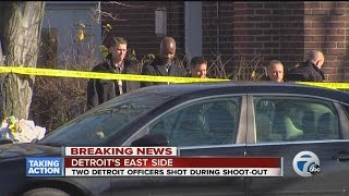 2 Detroit police officers shot in shoot-out on the city's east side