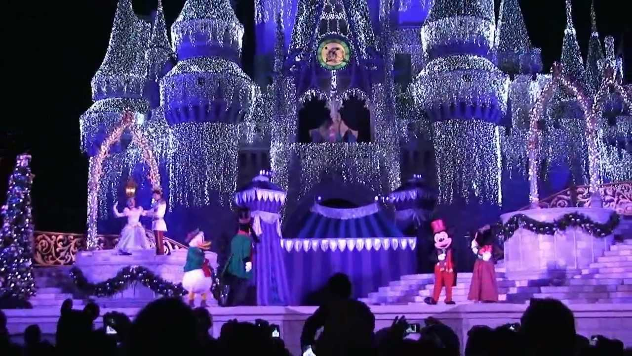 2011 cinderella castle christmas lighting at magic kingdom walt disney world youtube