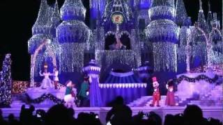 2011 Cinderella Castle Christmas Lighting at Magic Kingdom, Walt Disney World