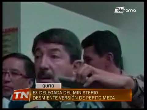 Ex delegada del ministerio desmiente versión de perito Meza