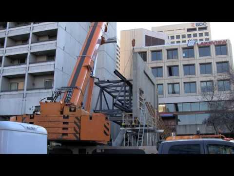 Skywalk Construction - Nov. 22, 2009 - Winnipeg, Manitoba