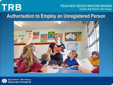 Authorisation To Employ An Unregistered Person March2016