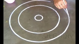 Big Beautiful Rangoli designs | Innovative Alpana design | Amazing art