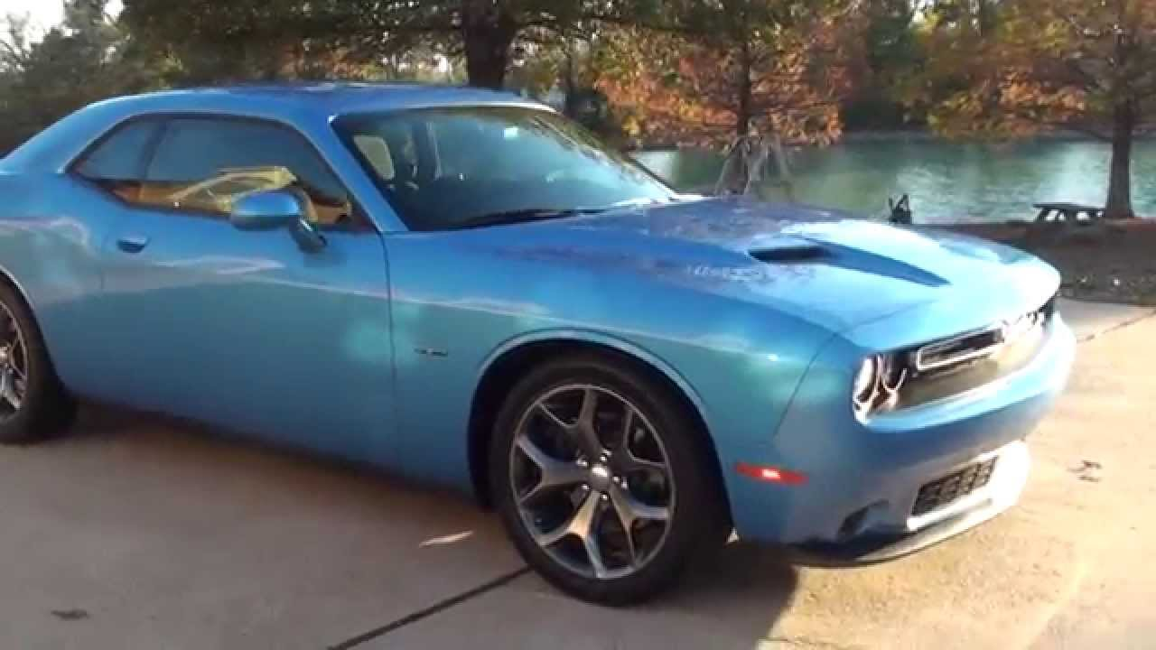 hd video 2015 dodge challenger v8 hemi rt blue 6 speed manual used for sale see www sunsetmotors. Black Bedroom Furniture Sets. Home Design Ideas