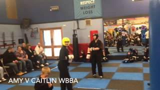 Amy v Caitlin WBBA fight night May 16th 2015