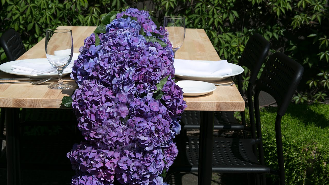 Hydrangea table runner youtube solutioingenieria Gallery