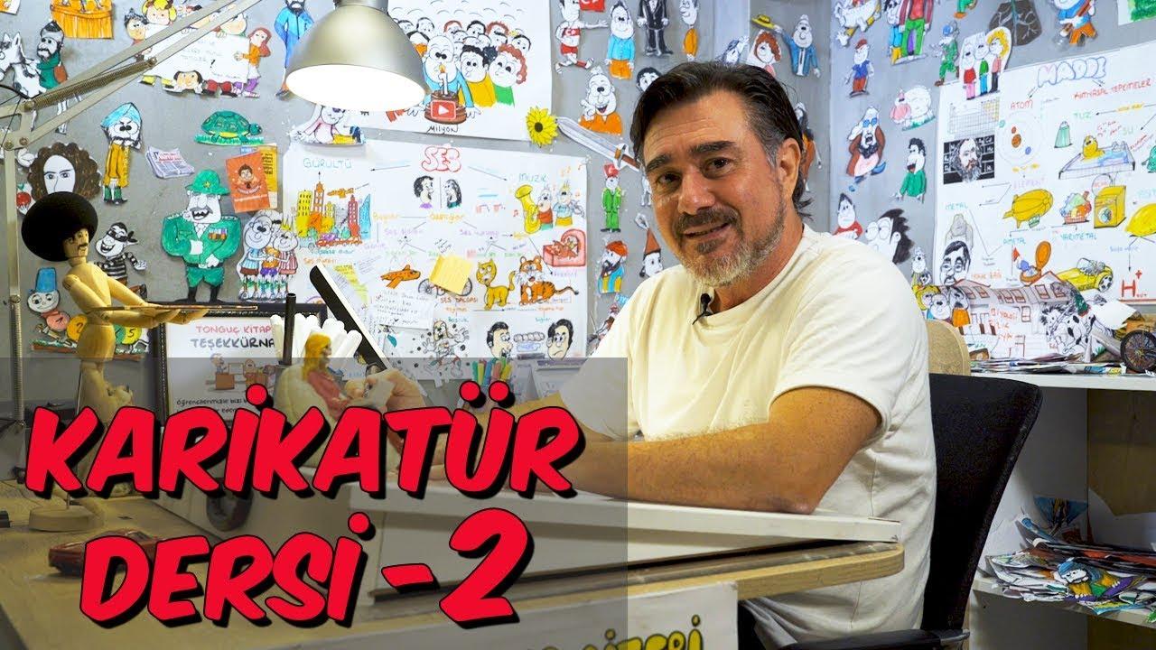 Yaz Okulu Karikatür Dersi 2 Tankut çizimi Youtube