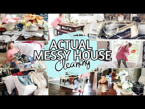 complete disaster cleaning motivation   whole house clean with me   messy house before and after