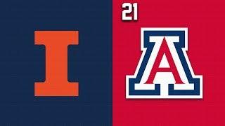2019 College Basketball Illinois vs #21 Arizona Highlights