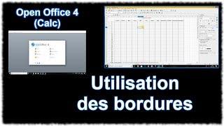 Tuto Calc (Open Office 4) - Utilisation des bordures