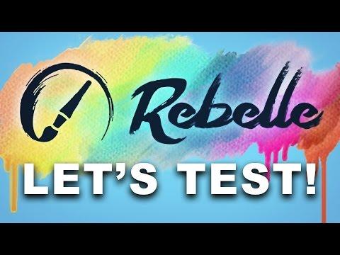 ACTUAL WET PAINT - Let's Test Rebelle