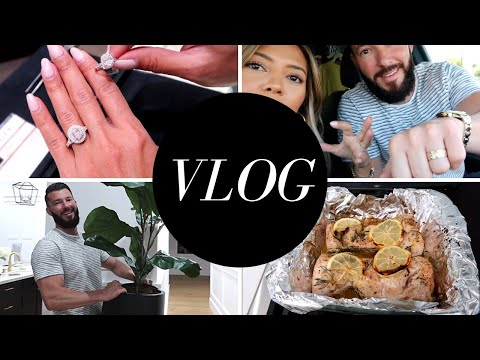 VLOG: Ring Shopping, Home Goods Haul, Cook With ME, Shopping For Jamie