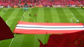 United Road - Manchester United v Swansea 12 May 2013