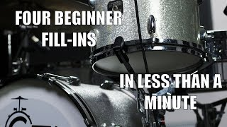 Four Beginner Fills in less than a Minute - Daily Drum Lesson