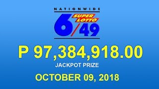 PCSO Super Lotto 6/49 Result October 9, 2018 - Lotto Results Today