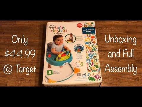 Baby Einstein Sea & Explore Walker Unboxing And Complete Assembly