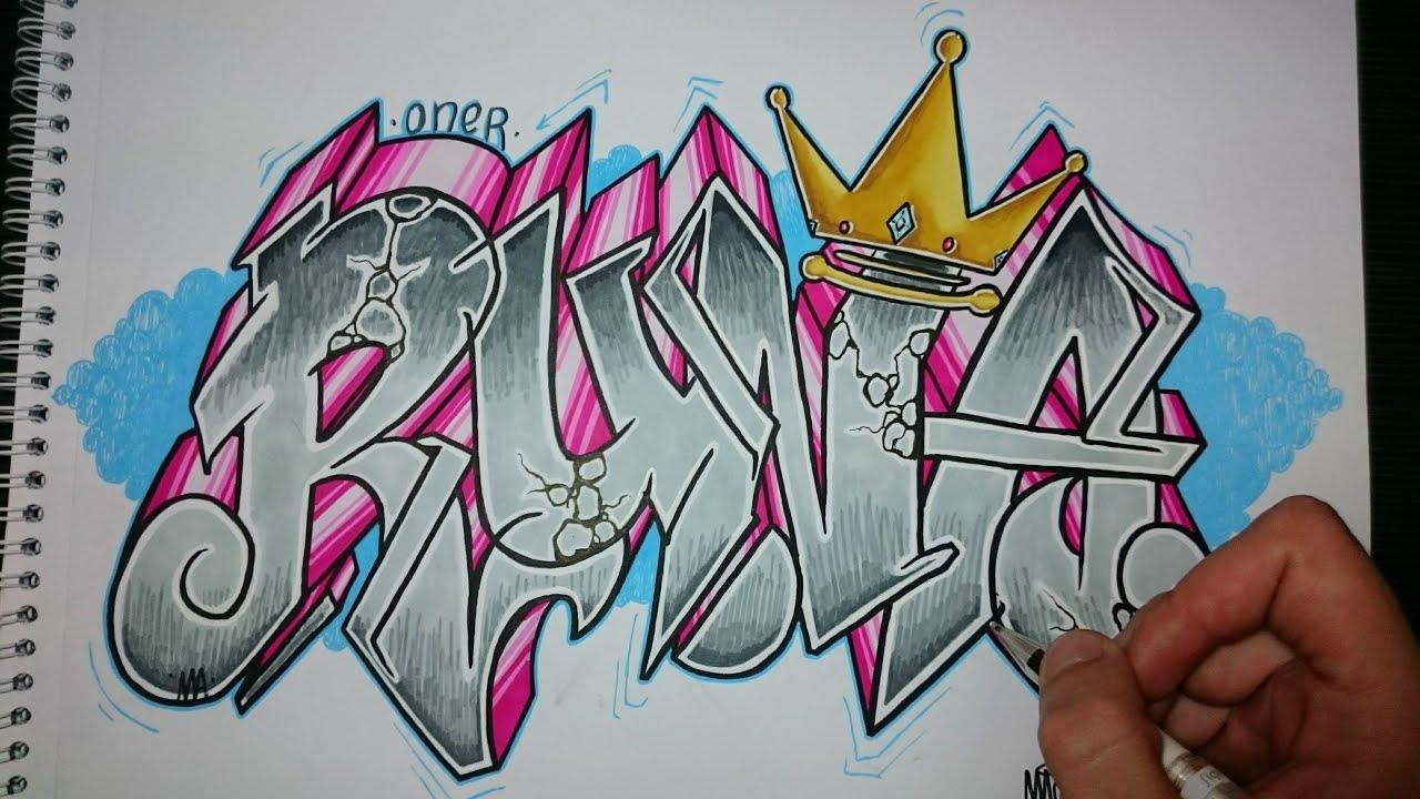 Como hacer un graffiti en papel runa youtube - Graffitis en papel ...