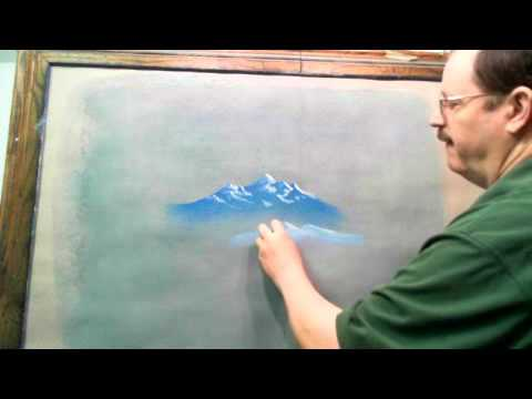 Painting With Ice Chalk And Oil