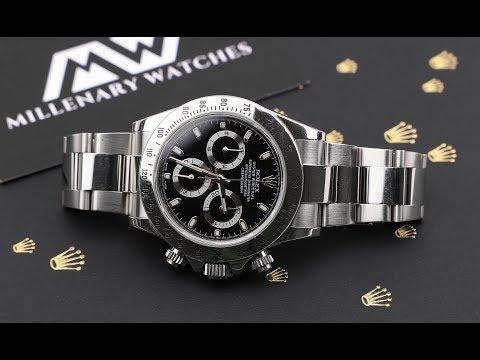 Rolex Daytona 116520 Black Dial Presentation Video