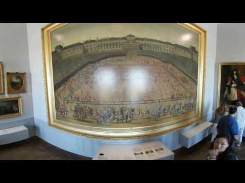 Paintings inside French castle Versaille - 360° VR  4K