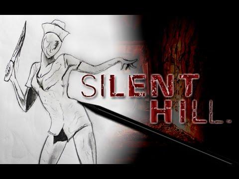 Silent Hill Enfermera  Dibujo Rpido  Semana del Horror  YouTube