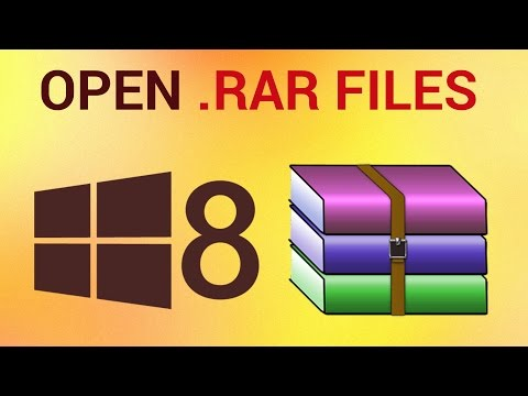 How to Open  rar files in Windows 8 - YouTube