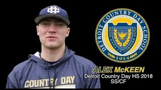 Alex McKeen Baseball Skills Video 11172017