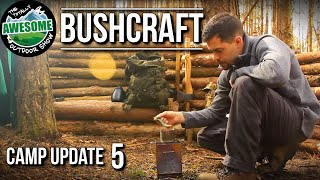 Bushcraft Camp Update 5 - Secondary Shelter! | TAOutdoors
