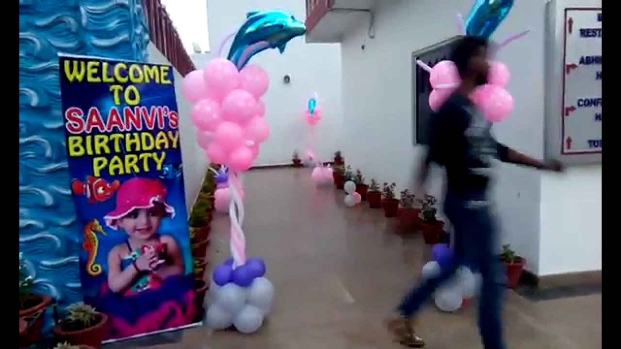 Birthday Party Entrance Decorations At Aapno Ghar Amusement Park In Gurgaon 09891478183