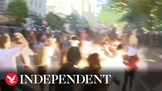 Police fire tear gas at protesters near White House