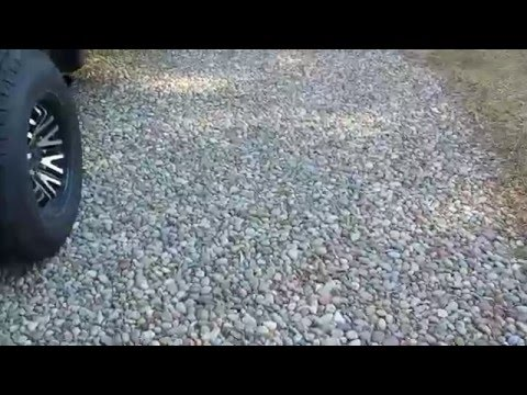 No one likes my River Stone Driveway, and I don't care!  Landscaping, Round Stone, Natural Stone