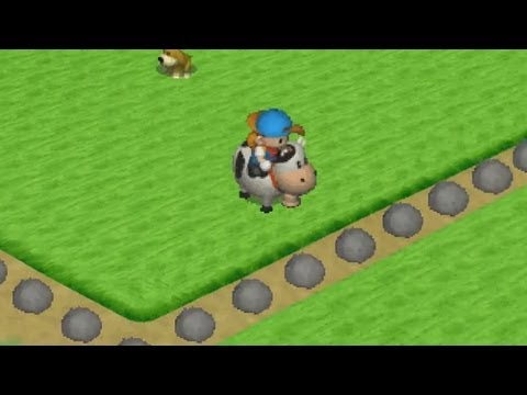 Harvestmoon : Back to Nature - RIDING A COW!