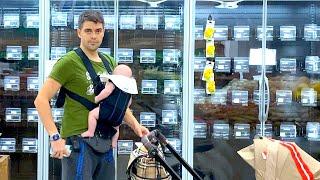 ПАПА и НАОМИ пошли в супермаркет ШОППИНГ