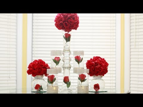 Dollar Tree Wedding Centerpiece Diy Youtube